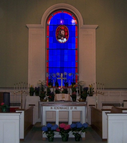 The church sanctuary on Easter morning 2012