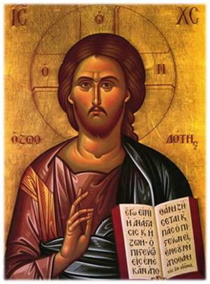 A traditional Orthodox icon of Jesus